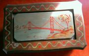 Swiss Movement Reuge Musical Box Plays I Left My Heart In Sf Hand Painted Look
