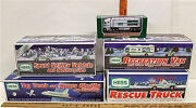 5 Pc Hess Lot 1994 Helicopter 1997 Racers 2001 Helicopter 2002 Airplane Nib