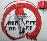 Ford Y Block 272-292-312 Red Small Hei Distributor, Coil + Spark Plug Wires 90s