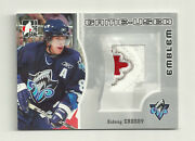 2005-06 In The Game Sidney Crosby Game Used 3 Color Emblem Silver /30 Canada