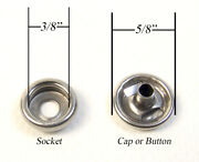 Cap And Socket Only Stainless Steel Snap Fasteners 1000 Piece Marine Grade