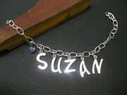 Personalized Your Name Custom Made Bracelet Selectable Font Silver By Joller