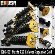 Coilover Suspension For1986-1991 Mazda Rx-7 Rx7 Type Rs Fc3s Non Adj.dampen Gold