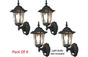 Pack Of 4 Outdoor Wall Mount Lighting Systems With Infrared Ir Motion Sensors