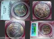 1919 Pcgs Graded High Quality Rainbow Toning George-ous Coin 50 Canadacents