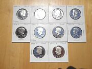 1970 1971 1972 1973 - 1976 Silver 1977 1978 1979 S Kennedy Half 10 Coin Set Lot