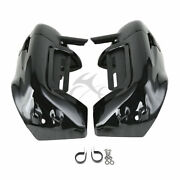 Black Lower Vented Leg Fairing Fit For Harley Touring Road King Electra Glide Us
