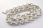 Taxcomexican 925 Sterling Silver Cable Chain Necklaces.25.5-29.565-75cm95g