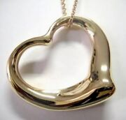 And Co 18ky Elsa Peretti Large Open Heart Pendant-with 30 Chain