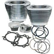 Sands Cycle Silver 97 Big Bore Cylinder Piston Kit 910-0201 For Harley 1999-06