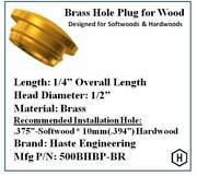 Brass Hole Plugs For Wood 10 Pieces