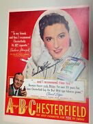 Barbara Stanwyck Signed Autograph Original 1940and039s Ad 2