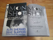 Astronaut Alan Shepard Signed Moon Shot '94 Book Mercury And Gemini Projects Kenny