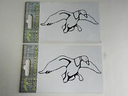 Duck Commander Duck Logo White And Black 2 Window Decal Stickers Dc-logodc