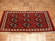 2and0392 X 4 Hand Knotted Antique Bokara Oriental Rug With Camel Hair G1963