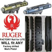 Factory Ruger Picatinny Rail For Mark 1 2 3 4 Scope Mount Base Mk Iv And 22/45