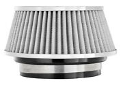 Spectre 8168 Cold Air Intake Filter 4 102mm Inlet White Chrome Low Profile