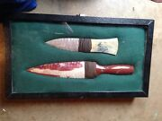 Picasso Marble/moss Creek Flint And Red Marble/mookite Jasper Blade Stone Knives