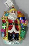 Radko Gifted St Nick Santa Ornament Nwt Ret. 1999 99-495-0 Approx 8signed