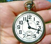 Waltham 21j/ Pocket Watch/anitique Solid Silver Chain And Fob