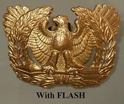 Vintage Wwii Us Army Warrant Officer Eagle Hat Pin Standing On Two Arrows