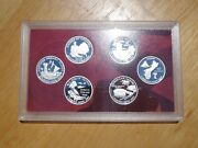 2009 S Silver Proof Dc And Us Territories Quarter 6 Coin Set No Box Or Coa