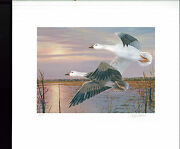 Mississippi 15 1990 State Duck Stamp Print Snow Geese Governor Stamp Signed 2