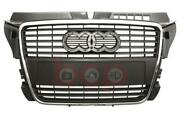 Audi A3 2008 2012 Grille Complete Silver Grey W/chrome Frame