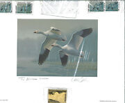 New Jersey 6 1989 Duck Stamp Print Snow Geese Governor's Ed Dan Smith