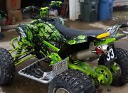 Can Am Ds 450 Graphics Kit Thick 24 Mil Racing Vinyl 9500 Neon Green Zombie