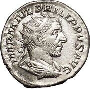 Philip I 'the Arab' 245ad Rome Mint Silver Ancient Roman Coin Security I52140