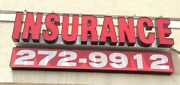 Insurance Sign 19 Tall X 8and039 Wide