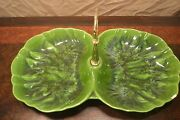 Maddux California Pottery Green Serving Tray Mid Century Modern MCM 3151-A 60s
