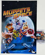 Steve Whitmire Signed 12x18 Movie Poster Muppetand039s From Space Kermit Frog Jsa