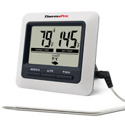 Thermopro Digital Meat Cooking Thermometer And Timer Alarm For Bbq Food Oven Grill