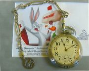 South Bend 19j/ Pocket Watch And Anitique Solid Silver Chain And Fob