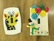 3 Vintage Nursery Light Switch Plate Covers Novelty Kids Rooms