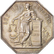 [400264] France Notary Token Au55-58 Silver 34 Lerouge 161 19.10