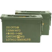 .30 Caliber Ammo Can Military Surplus Grade 1 2 Pack
