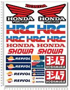 Racing Motorcycle Decal Set Sheet 23 Stickers Cbr 600rr 1000rr Repsol Hrc