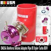 Emusa Type Rs Blow Off Valve 2.5 Reinforce Silicone Adapter Pipe+turbo Bov