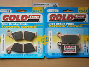 Honda Xr 650 L All Years Full Set Sintered Front And Rear Brake Pads Goldfren