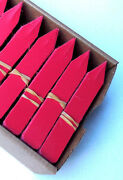 Red Plastic Plant Stakes Labels Nursery Tags Made In Usa - 4 X 5/8