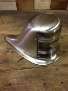 Vintage Boat Bow Light Satin Nickel Plated And Lacquered Nov. 15