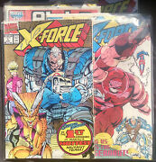X-force - Hand Signed Comic Book Lot With 2 Signed Cards + Signed Alpha Flight