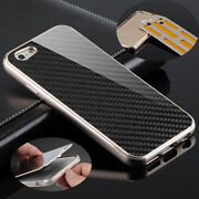 Deluxe Metal Aluminum Frame Carbon Fiber Back Case Cover For Iphone 6s And 6s Plus