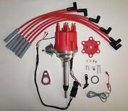 Small Cap Chevy Inline 6 Cylinder 194-216-235 Red Hei Distributor And Plug Wires