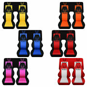 Designcovers Front And Rear Seat Covers Fit 1967-2002 Firebird / Pick Ur Color