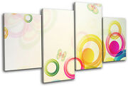 Vector Colourful Floral Abstract Multi Canvas Wall Art Picture Print Va