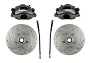 Gm Afx Body Chevelle Disc Brake Cross Drilled Rotors Loaded Calipers